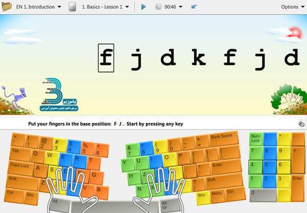 دانلود نرم افزار آموزش تایپ 10 انگشتی به همراه کیبورد فارسی RapidTyping