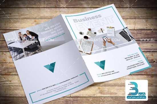 psd brochure 3 - دانلود قالب آماده بروشور برای فتوشاپ با موضوع Business Event