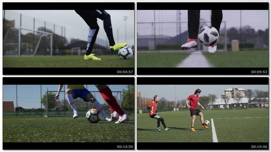 football top 50 screen - دانلود فیلم آموزش 50 حرکت تکنیکی در فوتبال Learn 50 Football Match Skills