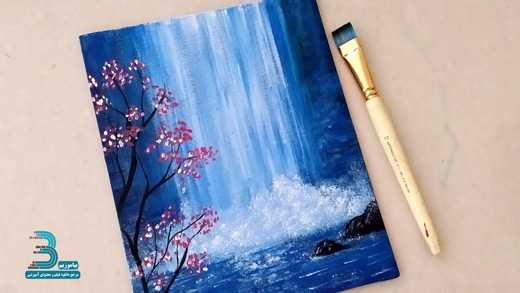 دانلود فیلم آموزش نقاشی با آب رنگ – آبشار شکوفه ها