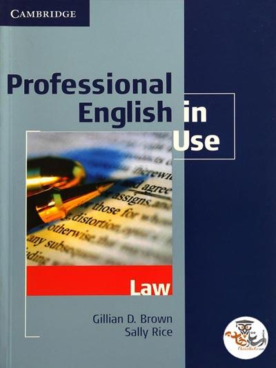 دانلود کتاب Professional English in Use Law به همراه پاسخنامه